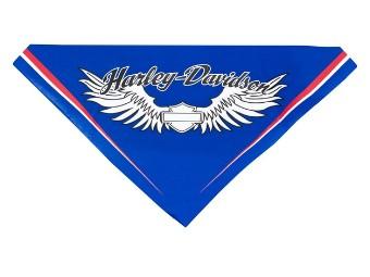 Bar & Shield Wings Pet Bandana Blau