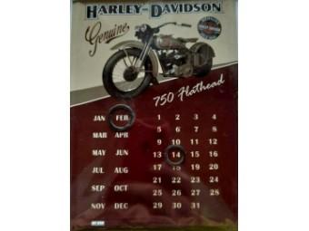 Flathead Blech Postkarten Kalender