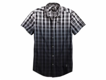 Dip-Dye Plaid Hemd