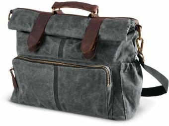 Waxed Canvas Messenger & Sissy Bar Tasche