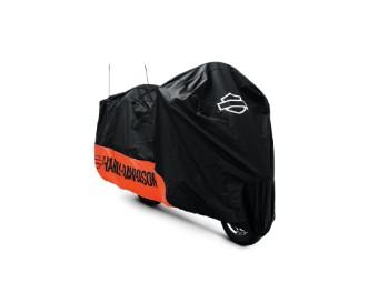 Motorradplane für Innen & Außen, orange & schwarz