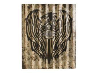 Schild Corrugated Metal