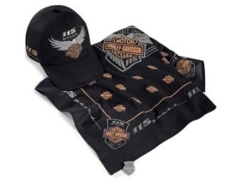 115th Anniversary Ride Pack Cap, Bandana, Pin