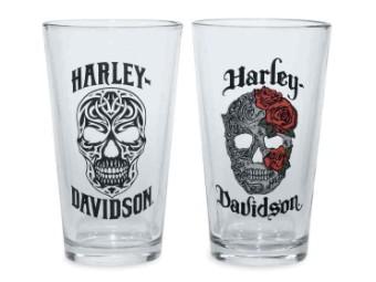 Harley-Davidson® Skull Pint Glas Set