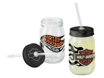 Harley-Davidson® Flames Glas Set
