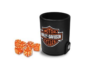 Bar & Shield Logo-Würfelbecher-Spielset