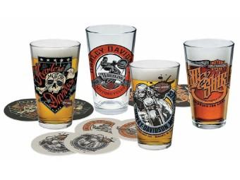 Harley-Davidson® Free Wheeling Pint Gläser Set