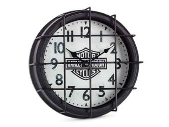 Harley-Davidson® Wand Uhr mit Metal Gitter