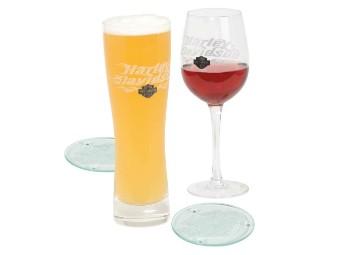 Harley-Davidson® Pilsner & Wine Glass Set