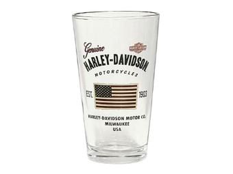 Harley-Davidson® Print Glas Stars & Stripes American Flag