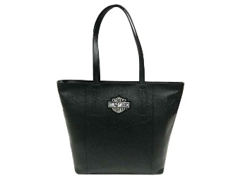 Handtasche Leather Travel Tote Black