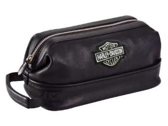 Kosmetik Tasche Leather Black