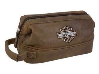Kosmetik Tasche Leather Palomino Braun