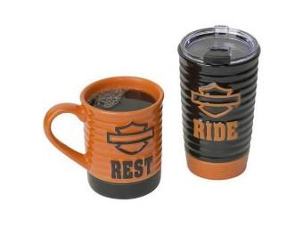 H-D Ride & Rest Travel Mug Gift Set