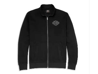 Pullover Embroidered Graphic Mockneck Zip