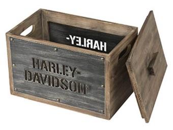 Harley Davidson Box Wooden Storage