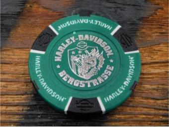 Bergstrasse Poker Chip Grün