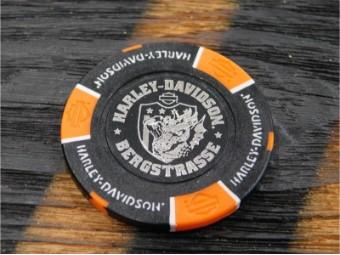 Bergstrasse Poker Chip Schwarz / Orange