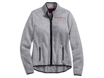 Embroidered Sweater Fleece Casual Jacke