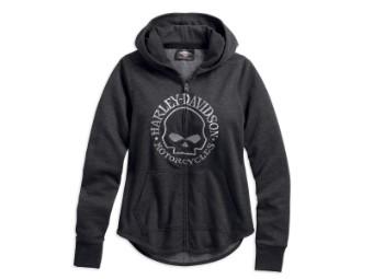 Hoodie Metallic Skull