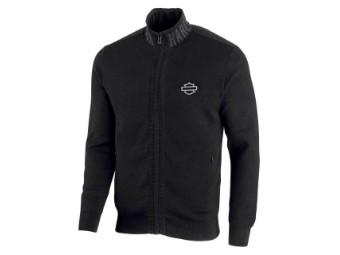 Wind-Resistant Front Zipper Sweater