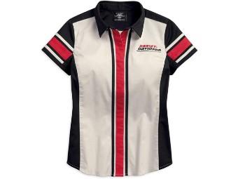 Stripe Colorblock Bluse