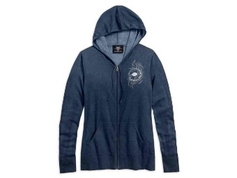 Fine Gauge Sweater Zipper Hoodie
