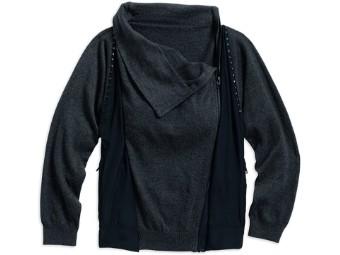 Asymmetric Zip Sweater