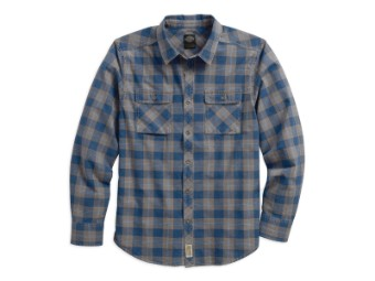 Washed Plaid Slim Fit Hemd
