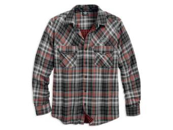 Double Cloth Plaid Long Sleeve Hemd