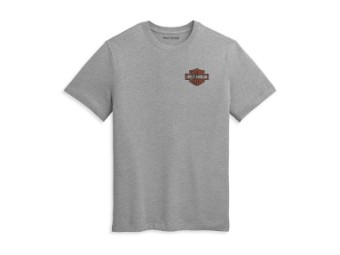 T-Shirt Double Bar & Shield Grey