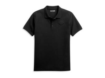 Polo Shirt 3D Bar & Shield Black