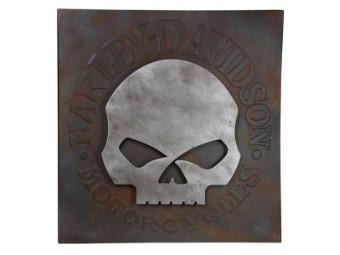 Schild Distressed Willie G Skull Metal