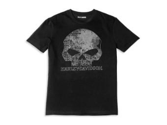 T-Shirt Milwaukee Map Skull Graphic