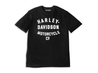 T-Shirt Racer Font Motorcycle Co. Graphic
