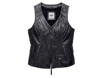 Distressed Dust Leather Weste