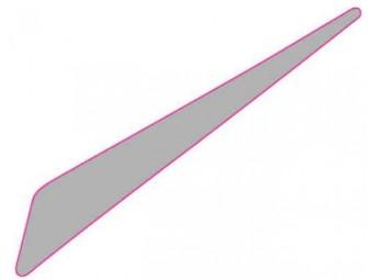 Dekor Luftleitblech klein links silber SX 125