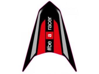 """Dekor Heck mitte """"be a racer"""" silber SX 125"""