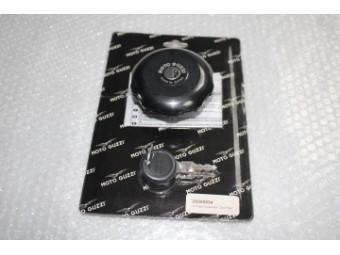 Tankdeckel V9 Aluminium, schwarz, Dark Rider