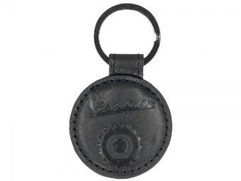 Schlüsselanhänger Vespa Rund Schwarz