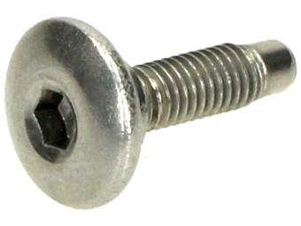 Verkleidungsschraube Silber Mit Flansch M5x12mm
