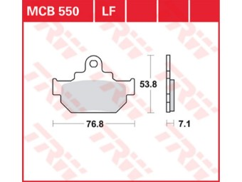 Bremsbeläge MCB550