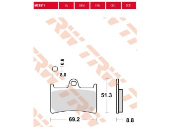 Bremsbeläge MCB611