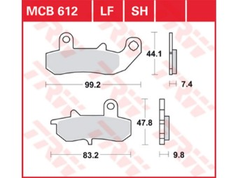 Bremsbeläge MCB612 LF