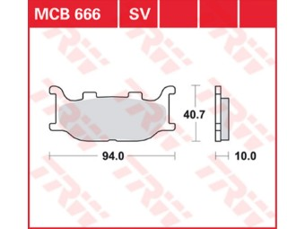 Bremsbeläge MCB666
