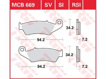 Bremsbeläge MCB669 SI