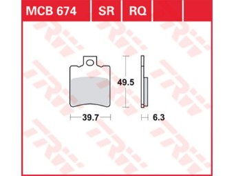 Bremsbeläge MCB674