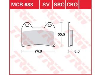 Bremsbeläge MCB683SV
