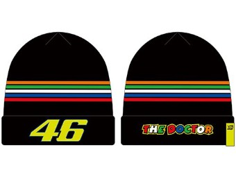 Rossi Beanie Black Stripes