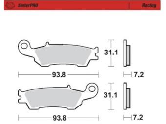 Bremsbelag Yamaha YZF/Y Vorne